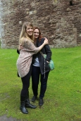 Taylor and Wendy outside Doune Castle.