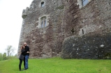 Tom and Wendy outside Doune Castle.