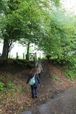 Walking back to town through the gate to the field that you walk through to get to Doune Castle.
