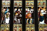 Gorgeous stained glass in Holy Rude Church in Stirling, Scotland.