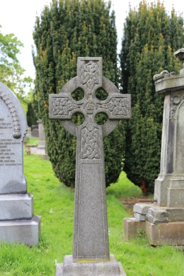 Celtic Cross Headstone from the Holy Rude Church graveyard, Stirling, Scotland.