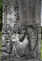 Angel Headstone from the Holy Rude Church graveyard, Stirling, Scotland.
