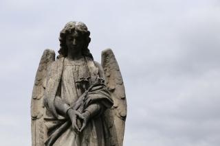 Angel in Holy Rude Church Graveyard, Stirling, Scotland.