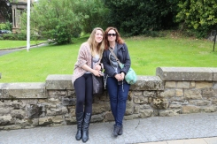 Taylor and Wendy in Stirling, Scotland.