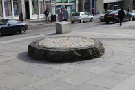"""X"" marks the spot where public executions took place on Grassmarket in Edinburgh."