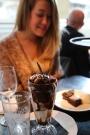 Mmmmm. Dessert at Pizza Express, Edinburgh.
