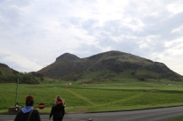Arthur's Seat as seen from Holy Rood park.