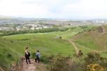 Gorgeous views while climbing Arthur's Seat.