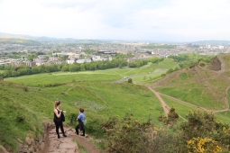 Gorgeous views while climbing Arthur's Seat.