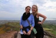 2015 06 Edinburgh Taylor and Wendy on Arthur's Seat