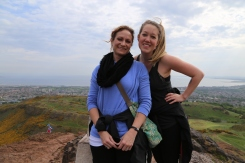 2015 06 Edinburgh Taylor and Wendy on Arthur's Seat