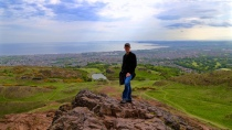 The gorgeous view from the top of Arthur's Seat.