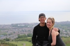 Tom and Tay at the top of Arthur's Seat.