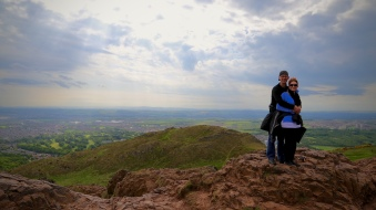 Tom and Wendy atop Arthur's Seat.