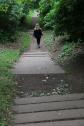 Taylor walking in Holy Rood Park, Edinburgh.