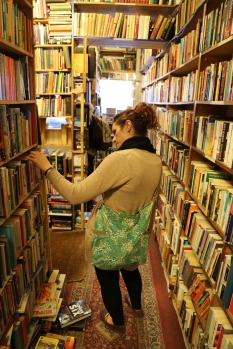 Taylor took us in this hole-in-the-wall used book store on the way to lunch. We almost didn't get Wendy out.
