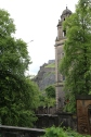 You can see part of Edinburgh Castle in the distance, past St. Cuthbert's.