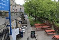 The cafe at St. John's in Edinburgh.