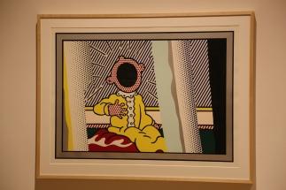 "Lichtenstein was inspired by Edvard Munch's ""The Scream"" when he did this."