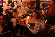 Taylor and Wendy inside The Jazz Bar, Edinburgh.