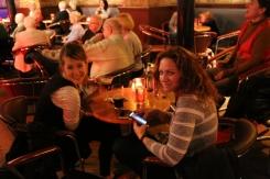 Taylor and Wendy inside The Jazz Bar, Edinburgh.