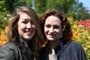 Taylor and Wendy at Royal Botanic Gardens, Edinburgh.