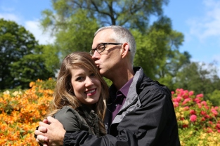 I haven't gotten to kiss her enough this past year! Tom and Taylor at Royal Botanic Gardens, Edinburgh.