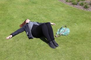 Wendy basking in the sun at Royal Botanic Gardens, Edinburgh.