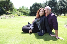 Tom and Wendy at Royal Botanic Gardens, Edinburgh.