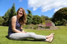 Taylor enjoying the sun at Royal Botanic Gardens, Edinburgh.