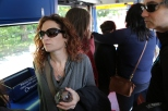 Wendy on the bus.