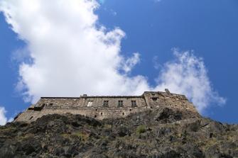 Edinburgh Castle seen from the base of Castle Hill.