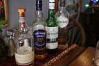 The less expensive flight of Scotch whiskey that Jon and I purchased.
