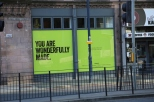 Sign on the outside of Central, Edinburgh.
