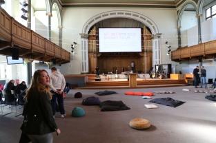 The worship area at Central, Edinburgh.