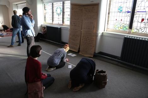 Prayer station at Central, Edinburgh