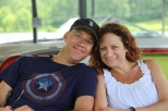 Tom and Wendy on the dock 2015