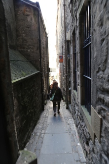 """Edinburgh is full of these tiny alleys between buildings which are shortcuts between major streets called a """"Close."""" They have their own names like """"King's Close."""""""