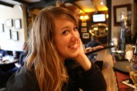 Taylor enjoying a drink with us at the White Hart Pub.