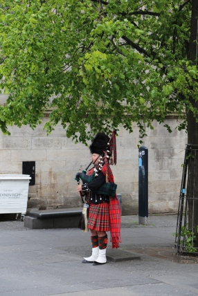 You can almost always hear a piper on the Royal Mile.