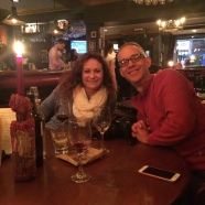 Tom and Wendy at Queen's Arms pub, Edinburgh.