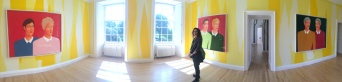 Wendy at Inverleith House Gallery on the grounds of the Royal Botanic Gardens, Edinburgh.