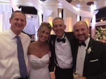Paul Jones and me with the happy couple!
