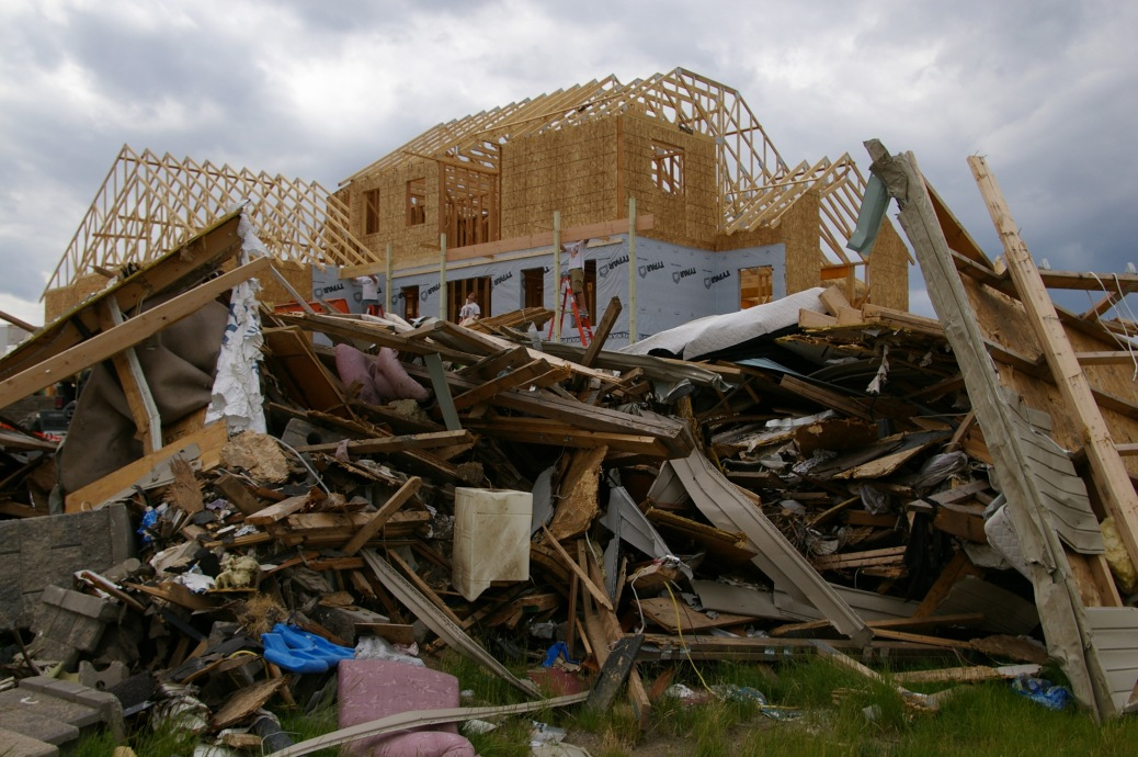 Rebuilding is underway a month after a deadly EF5 tornado destroyed a third of Parkersburg, IA. Photo by Richard O'Reilly, FEMA Public Affairs DR1763