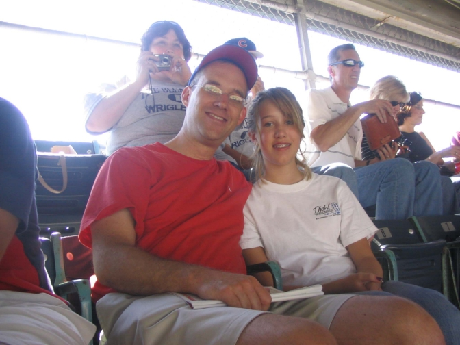 Tom and Taylor at Wrigley - 1