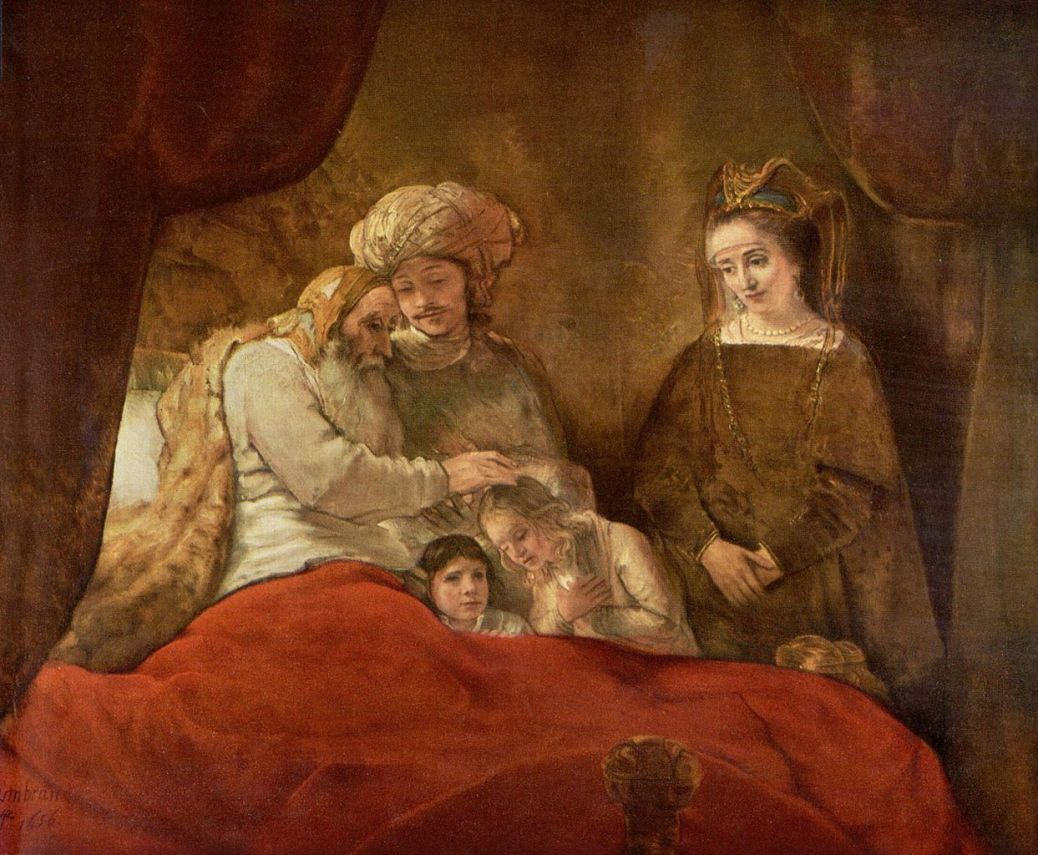 blessing by rembrandt