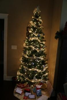 Christmas tree at VW Manor