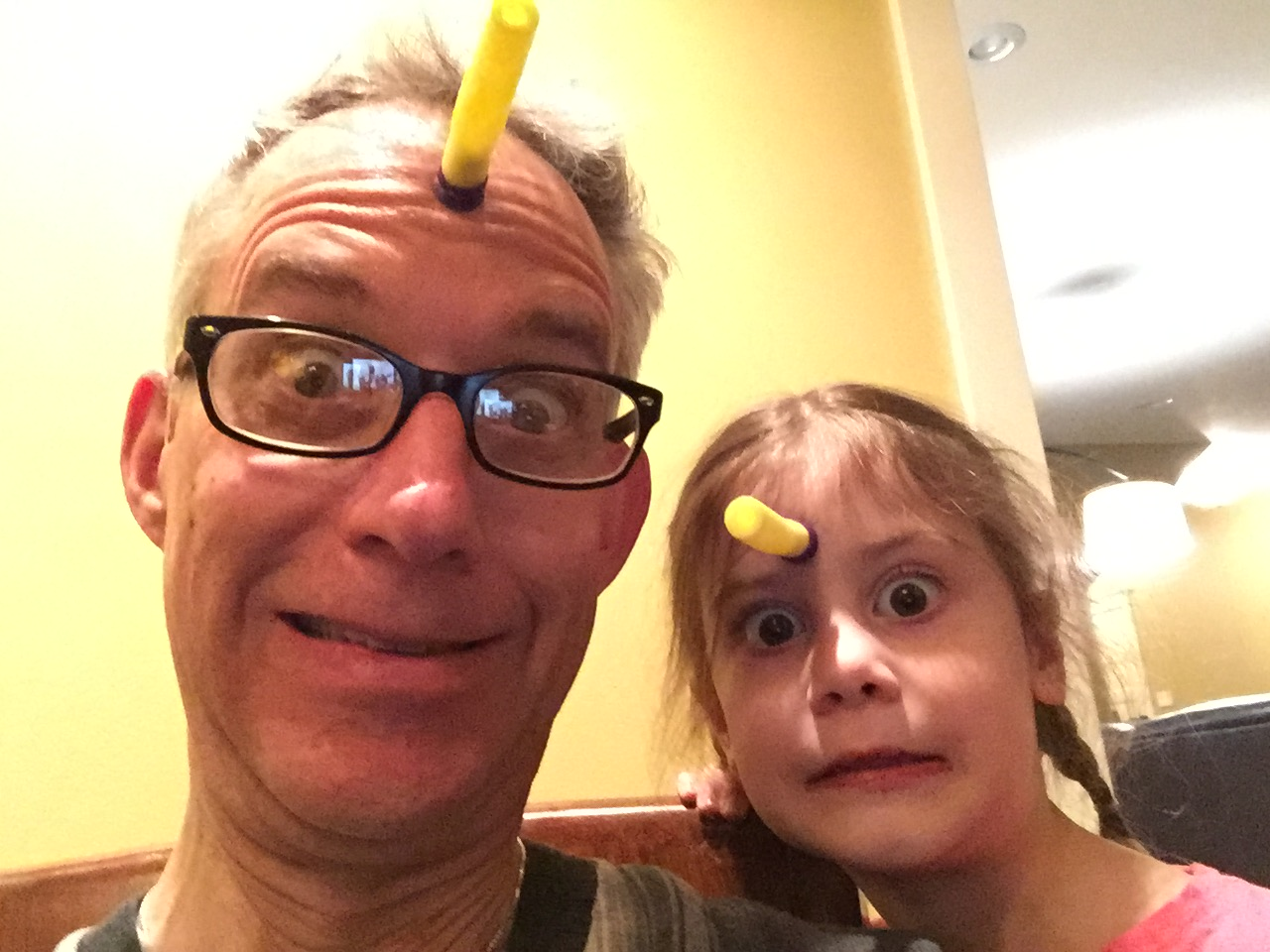 I had fun teaching Madeline the joy of sticking nerf darts on your forehead!