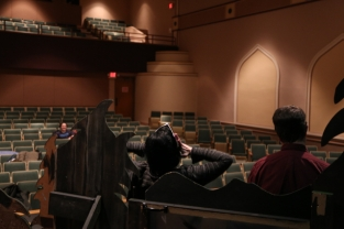 Jana DeZwarte and Spence Ver Meer rehearse Almost, Maine