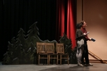 Jana DeZwarte and Spence Ver Meer in Almost, Maine rehearsal
